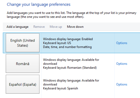 Windows 8 - Display Language