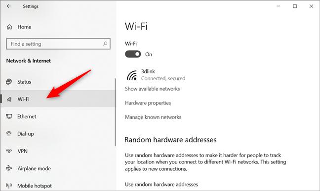 La conexión de red Wi-Fi