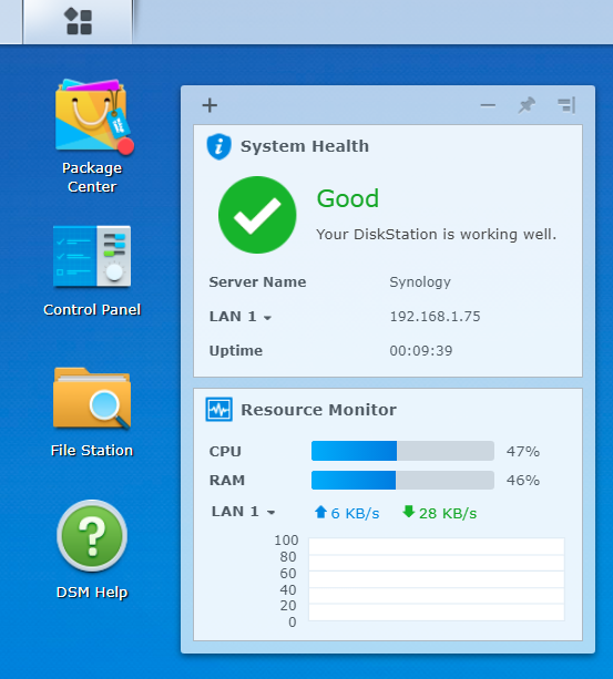 The DiskStation Manager (DSM)