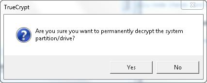 TrueCrypt - Permanently Decrypt Partition/Drive