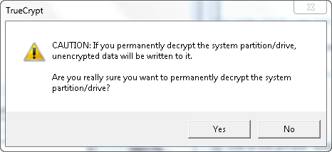 TrueCrypt - Permanently Decrypt Partition/Drive