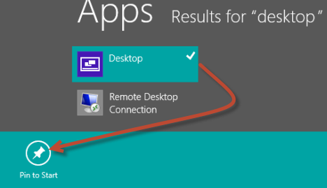 Add the Desktop tile back to the Start screen