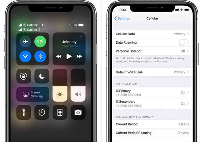 Dual SIM implementation on iPhone XS, XS Max, and XR