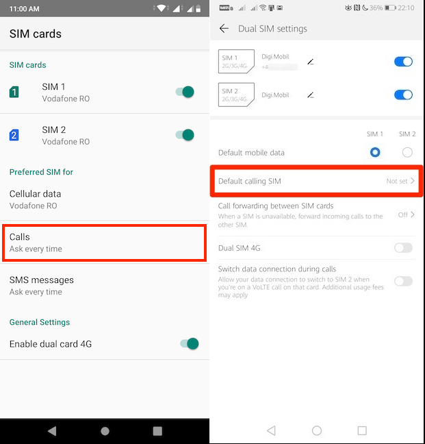 How To Change Dual Sim Settings On Android All You Need To Know Digital Citizen
