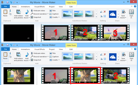 Windows, Movie Maker, edit, videos