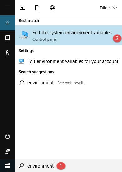 Windows, environment variables