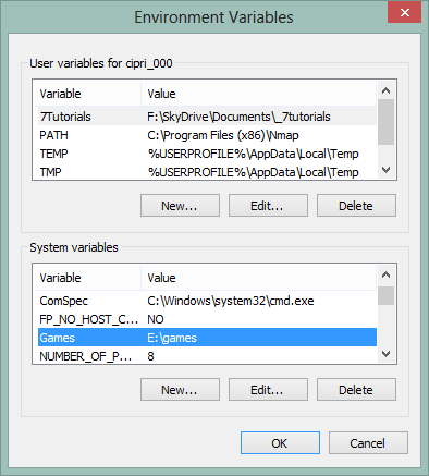 How to Create User & System Environment Variables in Windows 7 & Windows 8