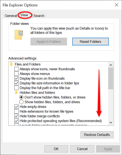 Scroll all the way down in Advanced settings