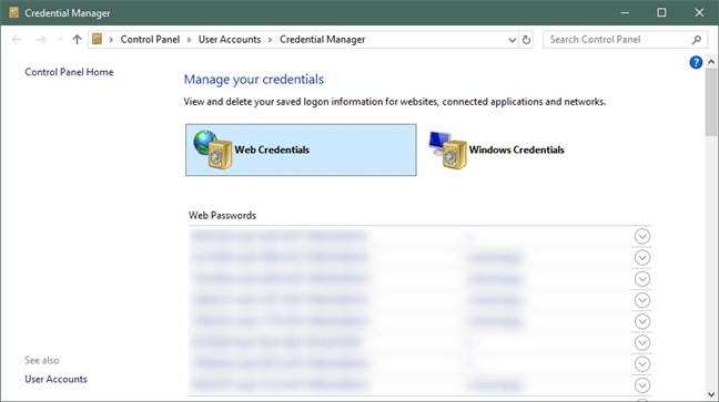Windows Credential Manager can export the passwords from Edge and Internet Explorer