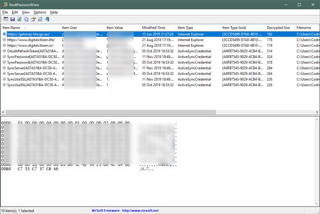 VaultPasswordView muestra todas las contraseñas guardadas de Edge e Internet Explorer
