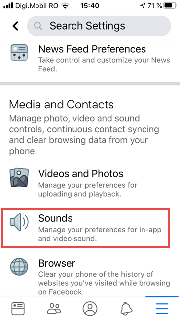 Facebook for iPhone - Tap Sounds