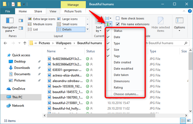 Adding more columns to the Details view of File Explorer