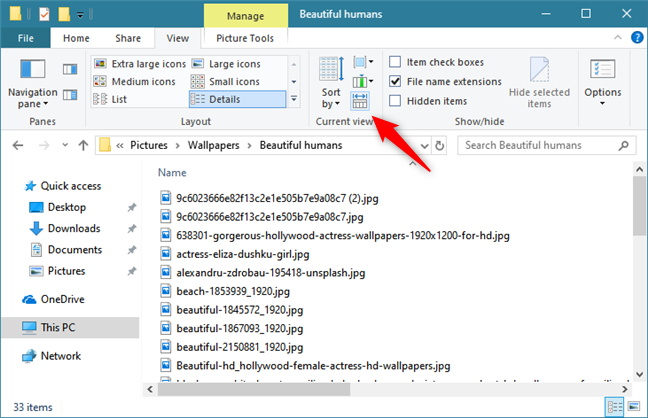 Automatic resizing of columns in File Explorer