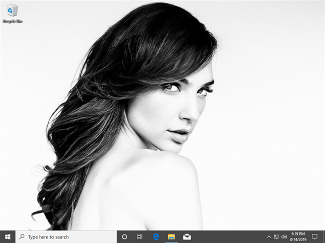 El escritorio de Windows 10