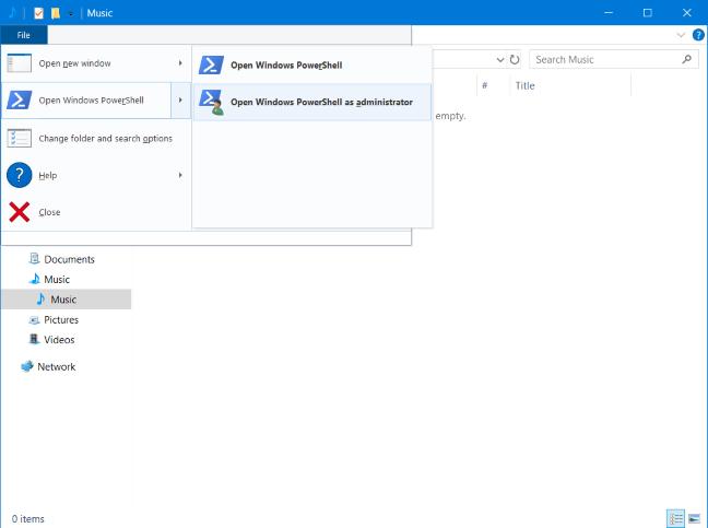 Open PowerShell in a specific folder