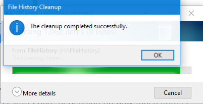 Se completa la limpieza del historial de archivos