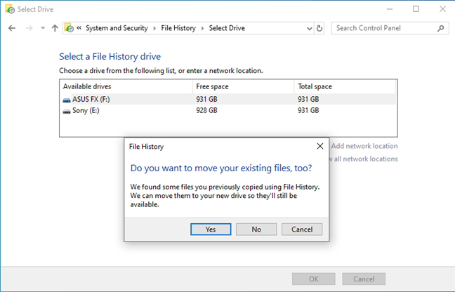 Move your existing files to another drive