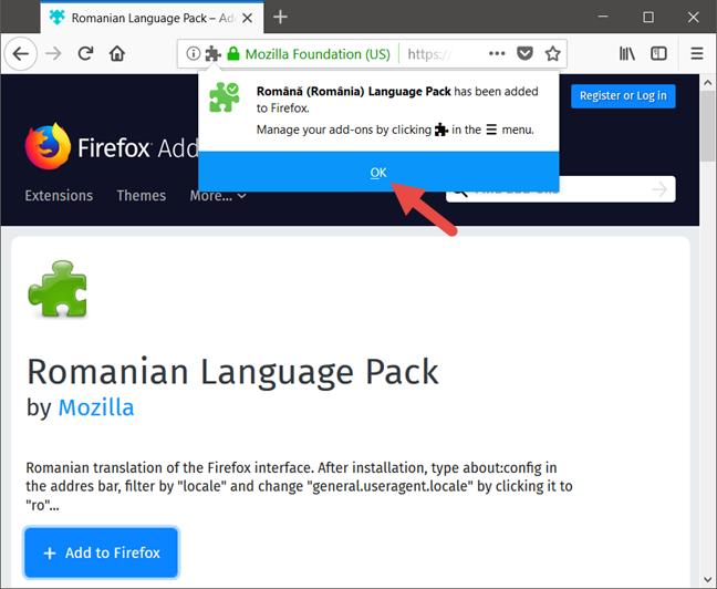 Mozilla Firefox, Change language
