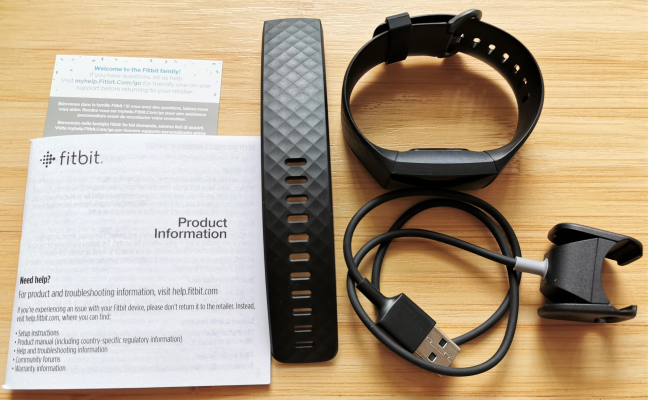 Fitbit Charge 4 - What is inside the box