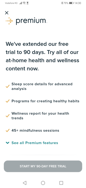 Activating the trial for Fitbit Premium