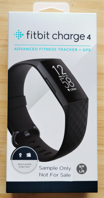 The packaging used for Fitbit Charge 4