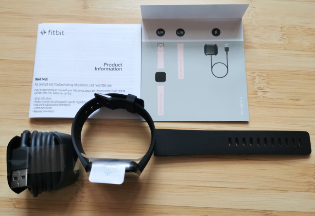 Fitbit Versa 2 - what is inside the box