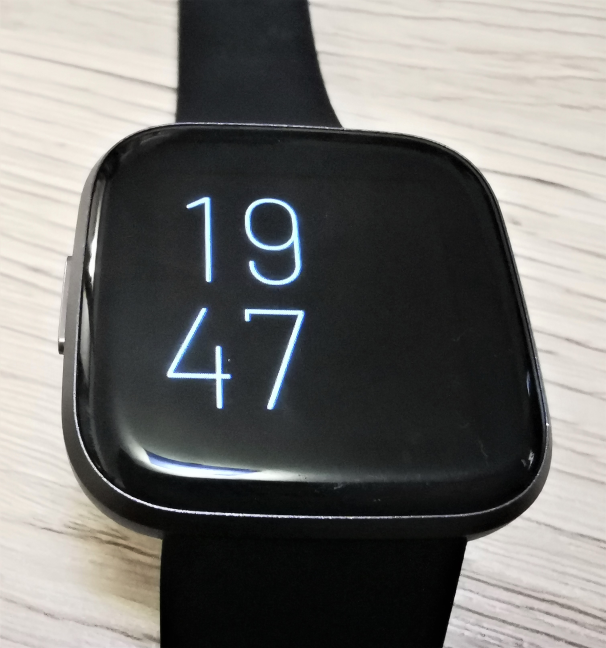 The display on the Fitbit Versa 2