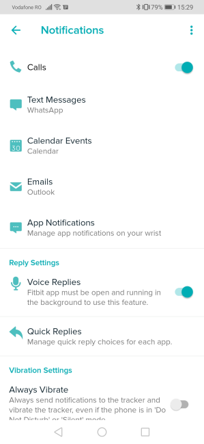 Configuring notifications on the Fitbit Versa 2