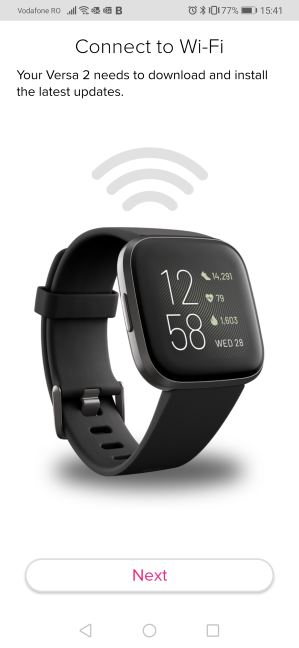 Fitbit Versa 2 - connecting to Wi-Fi