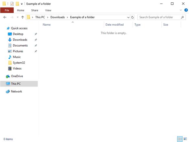 Empty folder after deletion