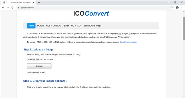Use ICO Convert to create your own icons