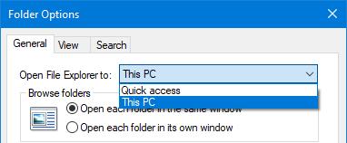 Set the folder opened by File Explorer