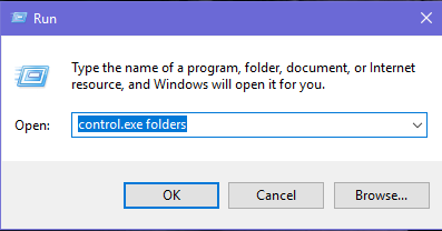Explorer, Folder Options, Windows