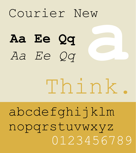 Font example - Courier New