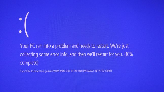 BSOD, Blue Screen Of Death, Windows, trigger, force
