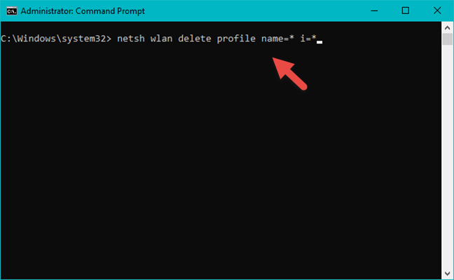Delete all wireless networks using the Command Prompt
