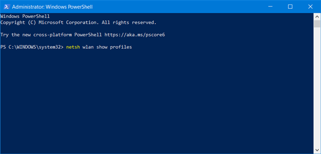 Show all network profiles in PowerShell
