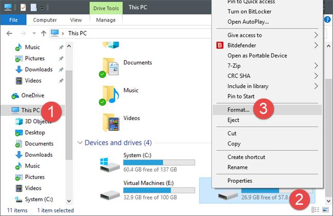 Windows, format, drives, storage