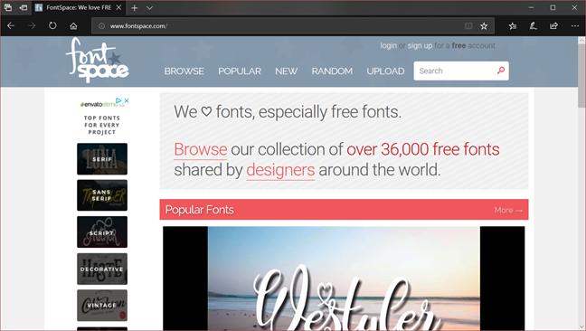 fonts, downloads, free, safe