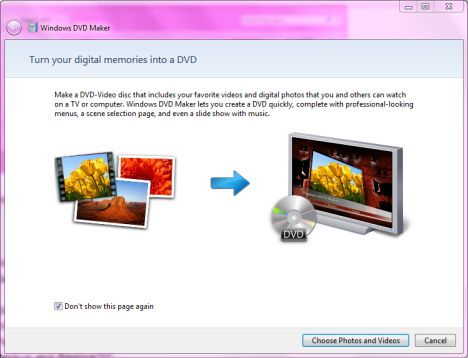 Windows DVD Maker in Windows 7