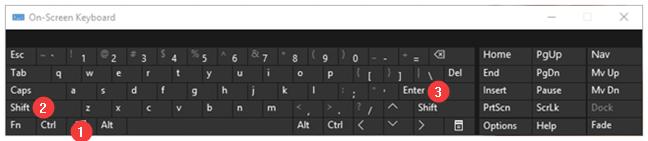 Windows + Shift + Enter turns on the Full screen mode in Microsoft Edge