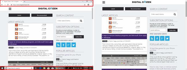 Google Chrome: window mode vs. fullscreen