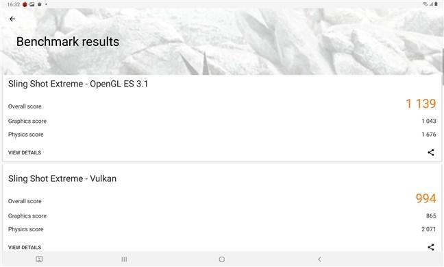 Samsung Galaxy Tab S6 Lite: 3DMark benchmark results