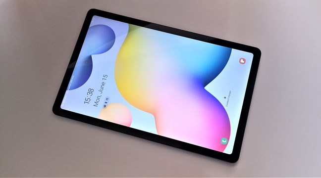 A view of the Samsung Galaxy Tab S6 Lite