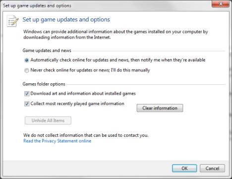 Games Folder in Windows 7