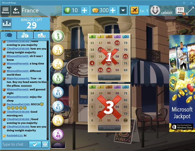Download free PC game for Windows 10: Microsoft Bingo