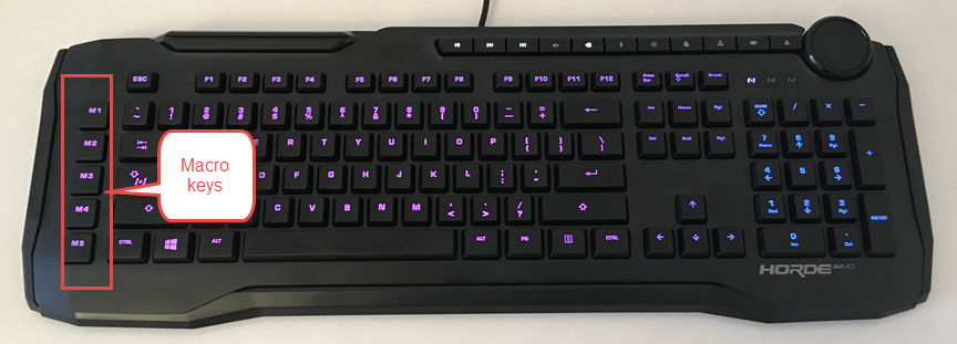 The macro keys on the ROCCAT Horde AIMO