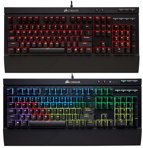 CORSAIR K68 - red backlight vs. RGB lighting