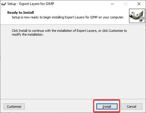 Install Export Layers plugin for GIMP