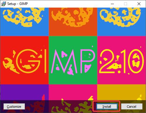 Install GIMP